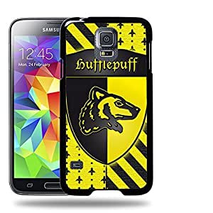 Case88 Designs Harry Potter & Hogwarts Collections Hogwarts Hufflepuff Sigil Protective Snap-on Hard Back Case Cover for Apple Samsung Galaxy S5