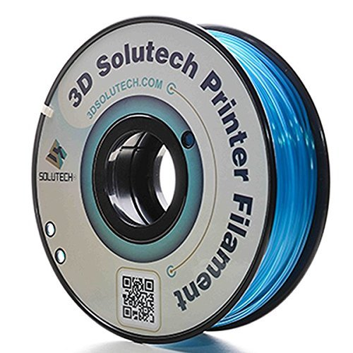 3D Solutech See Through Aqua Blue 3D Printer PLA Filament 1.75MM Filament, Dimensional Accuracy +/- 0.03 mm, 2.2 LBS (1.0KG) by 3D Solutech
