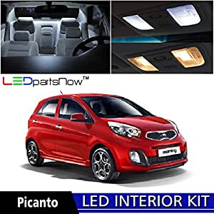 Ledpartsnow 2011 2014 kia picanto led interior lights accessories replacement for Led lights for car interior amazon