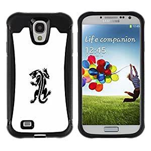 "Hypernova Defender Series TPU protection Cas Case Coque pour Samsung Galaxy S4 IV I9500 [Tattoo Ink Monster Decal Blanca""]"