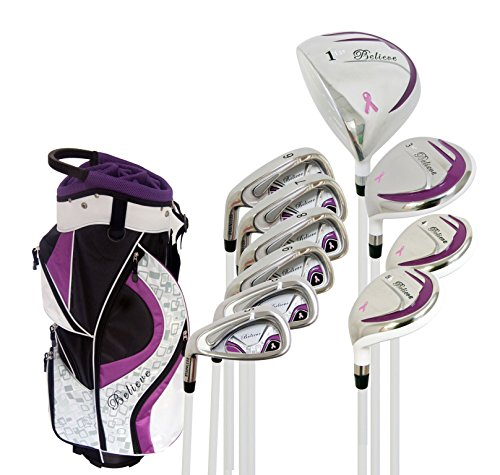 b Ladies Complete Golf Club Set Purple Left Handed (Petite -1