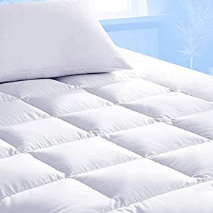 Pure Brands Mattress Topper & Mattress Pad Protector In One - Quality Plush Luxury Down Alternative Pillow Top - Make Your Bed Luxurious with Deep Pockets - King Size