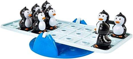 YusellYu Balancín equilibrado Pingüino Juguete Set de Escritorio Juguete Divertido Tabla Juego de Fiesta Juego de Niños Juguete: Amazon.es: Deportes y aire libre