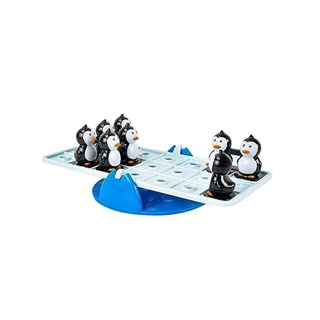 YusellYu Balancín equilibrado Pingüino Juguete Set de Escritorio ...