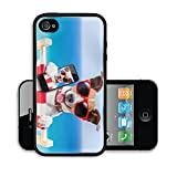 Liili Premium Apple iPhone 4 iPhone 4S Aluminum Backplate Bumper Snap Case ID: 28835568 dog taking a selfie in summer holidays