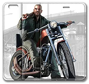 Johnny Grand Theft Auto Iv The Lost And Damned Leather Cover for iPhone 6 4.7 inch(Compatible with Verizon,AT&T,Sprint,T-mobile,Unlocked,Internatinal) by icecream design