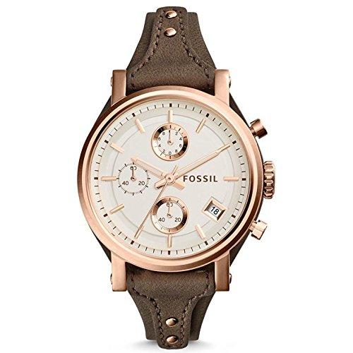 Fossil mujer reloj analógico Quartz Piel Marrón es3818: Amazon.es: Relojes