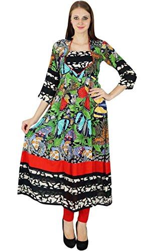 Vestido Kurti Mujeres Túnica Diseñador Étnico Phagun Del Top Indio Bollywood Algodón Kurta q07SXPT