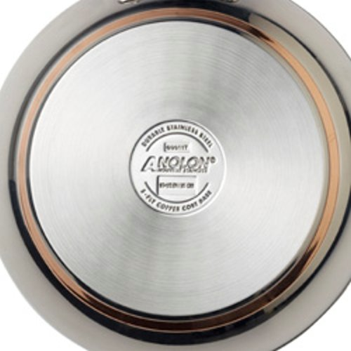 Anolon Nouvelle Copper Stainless Steel 4-Quart Covered Casserole