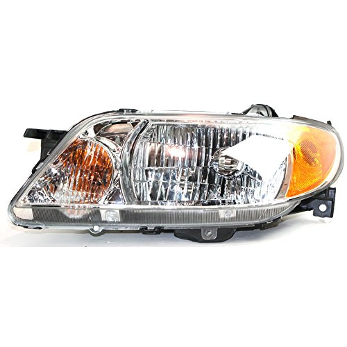 Protege Driver Side Headlight - Headlight for PROTEGE 01-03 Assembly Halogen Aluminum Bezel Sedan w/Bulb(s) Driver Side