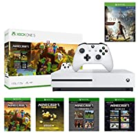 Xbox One S 1TB Minecraft Creators w/Assassin's Creed Odyssey Deluxe Bundle: 1TB Xbox One S White Console, Wireless Controller, Assassin's Creed Odyssey, Minecraft, Minecraft Starter, Creators Pack