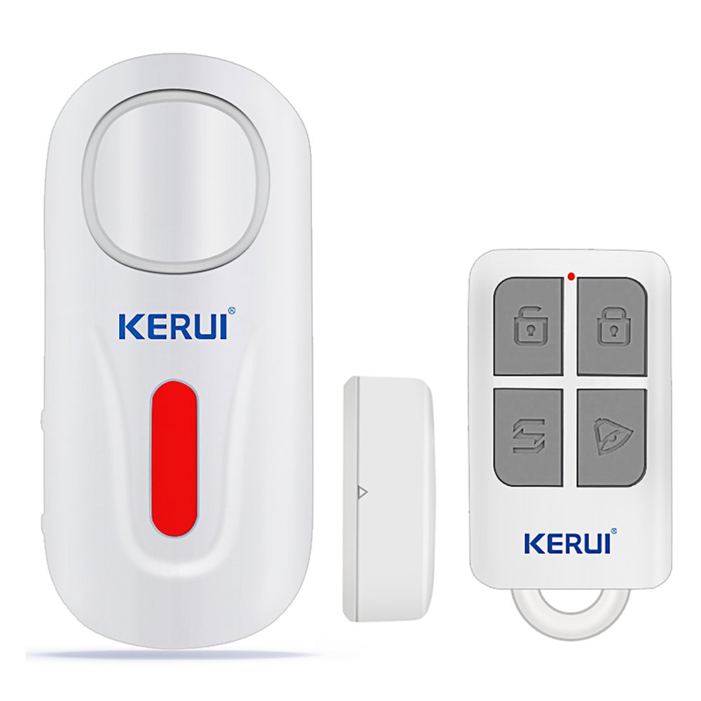 KERUI Door Window Alarm,D2 Remote Security Sensor System,Wireless DIY Magnetic Window Entry Contact Doorbell Easy Installation For Home Shop Company (White-1)