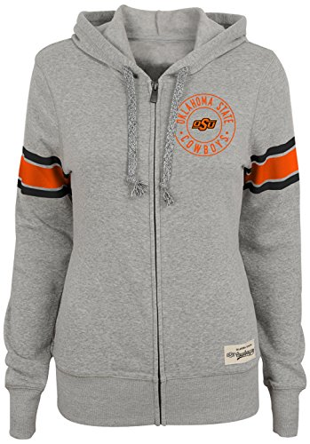 (NCAA by Outerstuff NCAA Oklahoma State Cowboys Juniors Boyfriend Zip up Hoodie, Heather Grey,)
