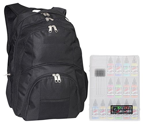 HG Stealth 3 TSA Friendly Laptop Backpack Fits Most 17 Inch Laptops and Tablets with Tattoo Supply Case