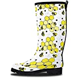 LONECONE Women's Patterned Mid-Calf Rain Boots, Bumble Boots, 6