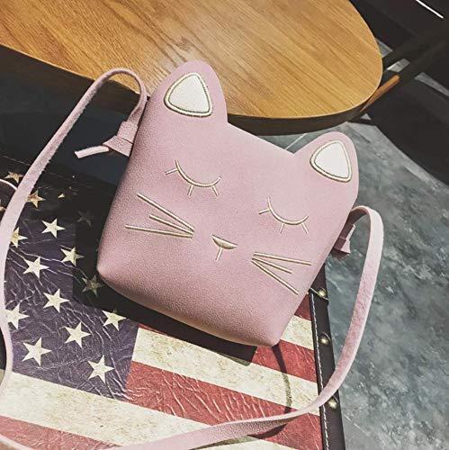 春夏スタイル かわいいメッセンジャーバッグ 女の子用ミニバッグ ピンク B07GL2F4WD ピンク