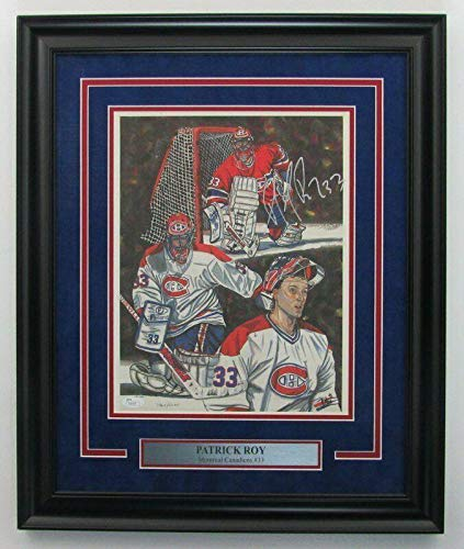 Patrick Roy Signed Picture - Framed 11x14 Litho Color Print 141829 - JSA Certified - Autographed NHL Photos