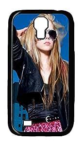 Samsung Galaxy S4 Case,Customize Ultra Slim Avril Lavigne Summer Look Hard Plastic PC Blcak Case Bumper Cover for S4
