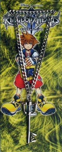 Kingdom Hearts Keyblade Silver Necklace