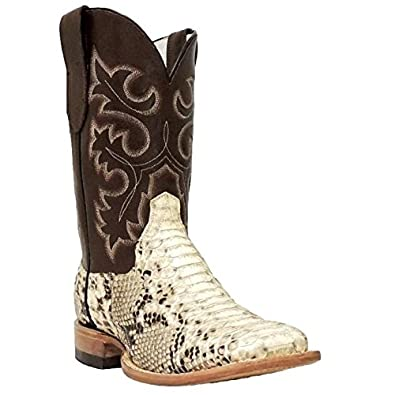 537bd1923bb Cowtown Men's Square Toe Python Snakeskin Boot Q818