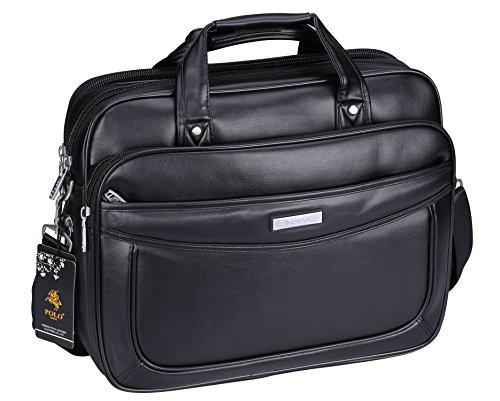 Laptop Briefcase Large Capacity & Expandable Handbag Shoulder Messenger Bag for Business Travelling (Black-C1) ()