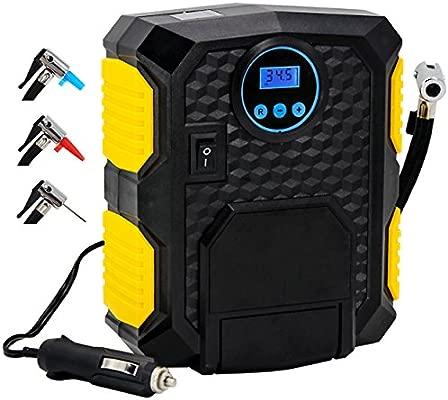 Bomba portátil de compresor de aire neumático – almondcy yy3609 portátil eléctrico automático digital Kit de compresor de aire para coche neumático, ...