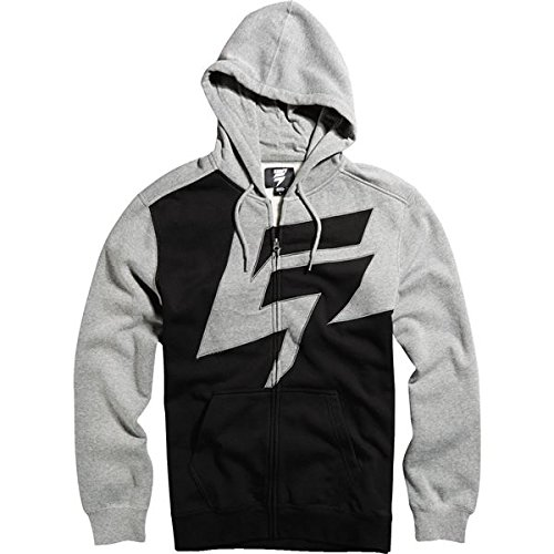 Shift Racing Mens Fraction Fleece Hoody Zip Sweatshirt Large Heather Graphite