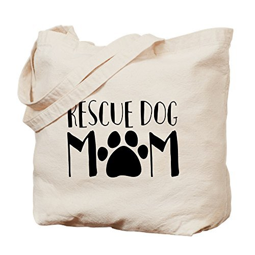 Lionkin8 Rescue Dog Mom Natural Canvas Tote Bag, Cloth Shopping Bag