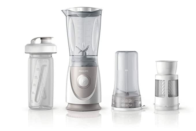 Philips Daily HR2874/00 - Batidora Americana de Vaso, 350 W, Jarra 0.6 L, Plástico Ultra Resistente, Picador, Vaso On the go, Color Gris: Amazon.es: Hogar