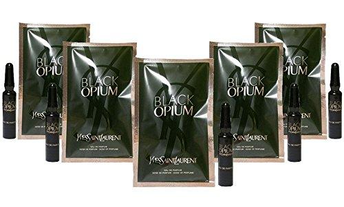Yves Saint Laurent Black Opium Lot of 5 Mini Vials (0.04 oz each)