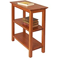 Manchester Wood Chairside Bookshelf - Golden Oak