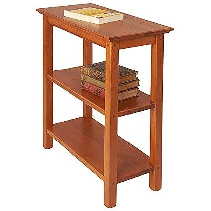 Beau Manchester Wood Chairside Bookshelf   Golden Oak