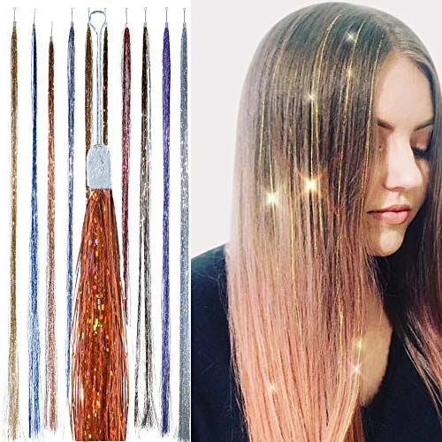Holographic Hair Tinsel - by Hair Dazzle -