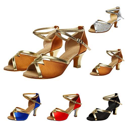 Salsa sandales Danse Femmes Pour solide Bal De Sandales Bleu Rumba Chaussures Latine Femme Valse Chaussures ZqOwYzqx