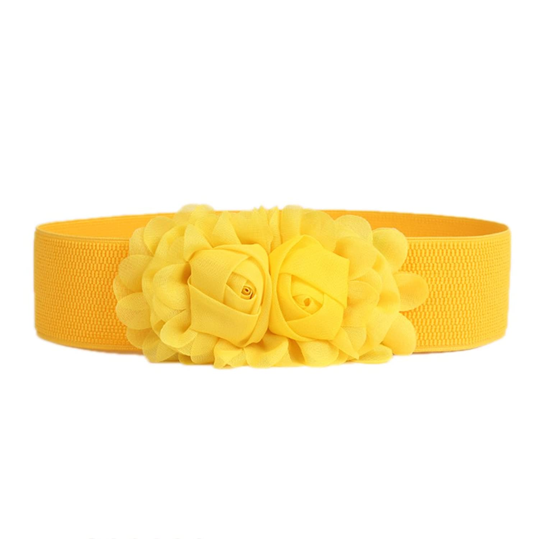 Nanxson(TM) Women Decorative Elastic Wide Waist Band/ Belt with Flower PDW0064