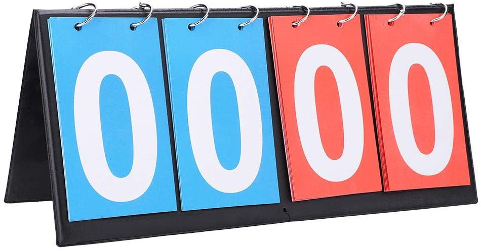 Wbestexercises 2/3/4 Basketball Scoreboard, Flip Scoreboards, Portable Table Top Score Keeper, Multisport Indoor Tabletop Scoreboard, Easy-Flip Indoor/Outdoor Score Counter Scoring System