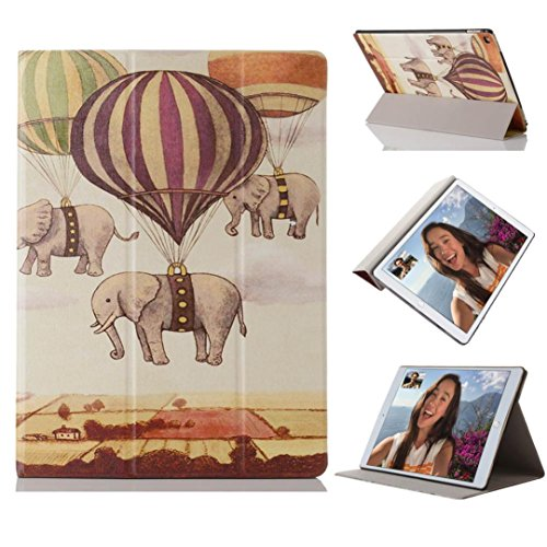 Hunputa Ultra Slim Floral Stand Leather Back Cover Case For Ipad Pro 12 9Inch  Elephant   Balloon