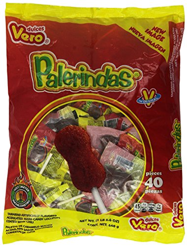 Palerindas Tamarind Flavored Mexican Suckers 40 Count