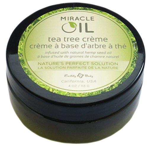 Earthly Body Miracle Oil Tea Tree Cream 4 Ounces