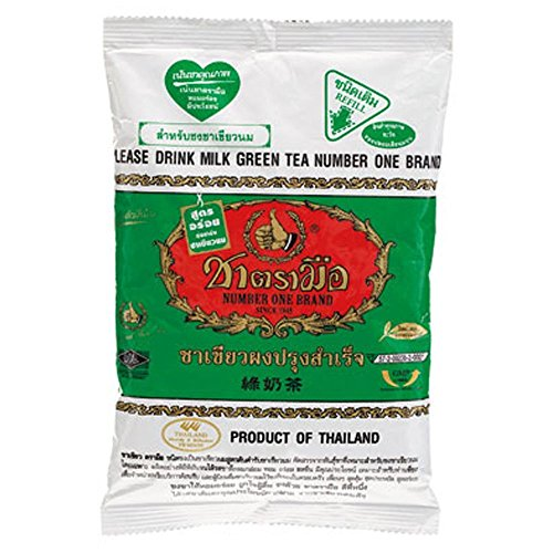 Number One Milk Green Tea, 200 Gram (Best Thai Tea Mix)