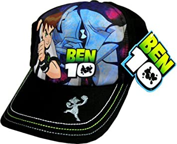 184c57d9bf392 Image Unavailable. Image not available for. Colour: BEN 10 ALIEN FORCE Black  Baseball Cap Age 5 - 12 Years Size Large Boys Kids