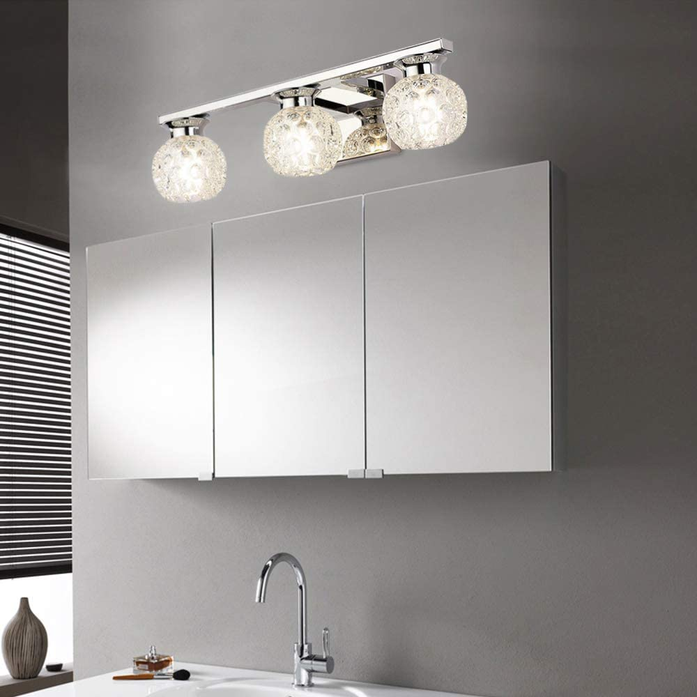 45cm Bathroom Vanity Lights 3lights Glass Make Up Mirror Front Light Modern Led Wall Lamp Over Mirror Wall Sconce Lighting Fixture 6000 6500k Amazon Ca Electronics