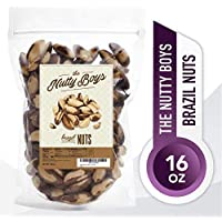 The Nutty Boys Raw Brazil Nuts 1 Pound (16oz) No PPO or Any Pesticides, 100% Natural, Non-GMO, Kosher, Whole Brazil Nuts,