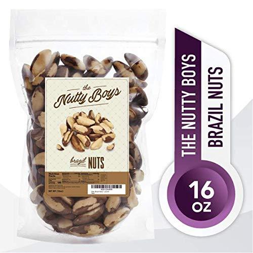 Raw Brazil Nuts 1 Pound (16oz) 100% Natural, Non-GMO, No PPO or Any Pesticides, Kosher, Whole Brazil Nuts,