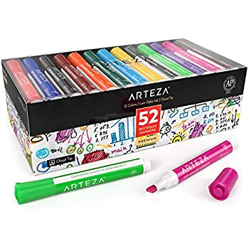 Amazon.com : ARTEZA Dry Erase Markers, Bulk Pack of 52