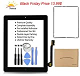 PC Hardware : Black New iPad 3 Model A1403 A1416 A1430 Digitizer Screen Replacement Glass Replacement Assembly Kit  - Includes Home Button Camera Holder Pre Installed Adhesive Stickers Bezel Frame and Professional Tool Kit