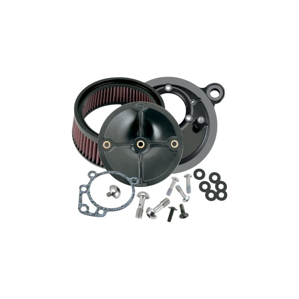 S&S Cycle Super Stock Stealth Air Cleaner Kit   Harley Davidson Dyna/Road Glide 1993 1998 / FXR 1999 / Heritage Softail/Softail 1993 1999 / Sport Glide 1993 / Super Glide 1993 1994   170 0057