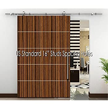 Amazon Com 98 4 Quot 8 2 Ft Modern Stainless Sliding Wood