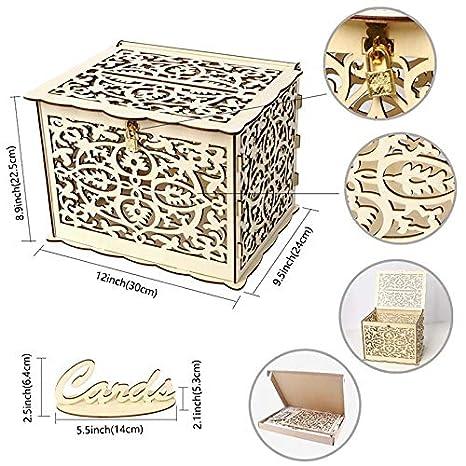 Amazon Com Wedding Card Boxes Creative Diy Wedding Gift Card Box