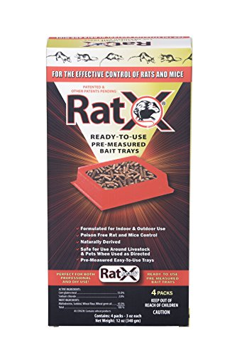 MouseX 100532634 EcoClear Products RatX 620105 Rat/Mouse Killer Pellets, 3 Oz White